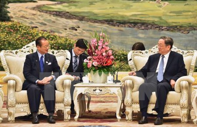 Japanese Parliamentarian meets Chairman of the Chinese People's Political Consultative Conference - ảnh 1