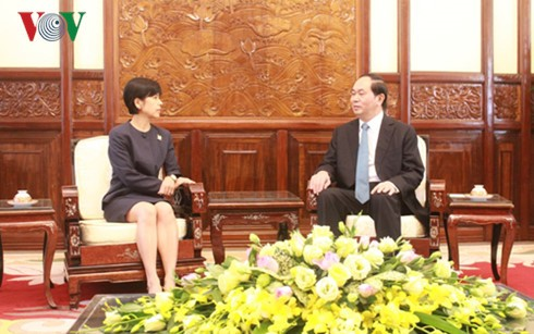 President Tran Dai Quang receives new Ambassadors - ảnh 2
