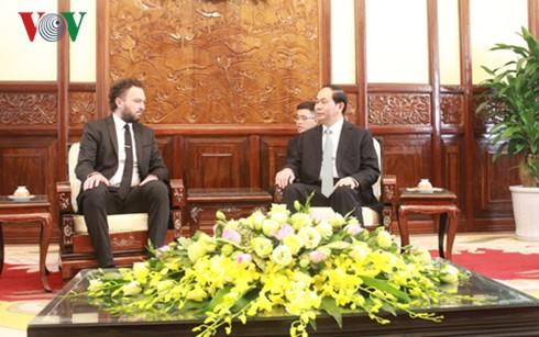 President Tran Dai Quang receives new Ambassadors - ảnh 6