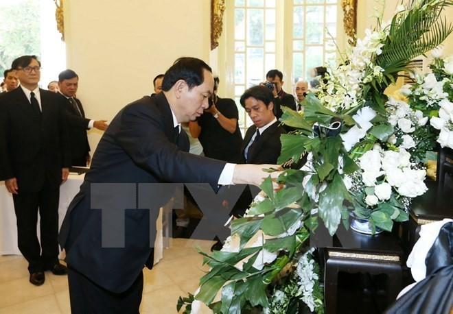 President Tran Dai Quang pays tribute to late Thai King - ảnh 1