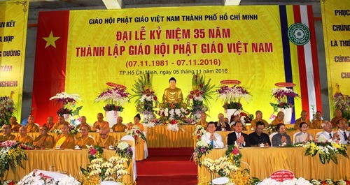 35th founding anniversary of Vietnam Buddhist Sangha marked in HCM City  - ảnh 1