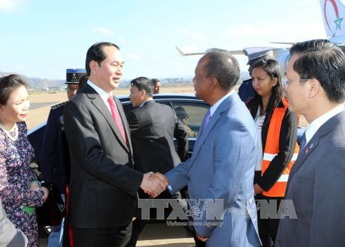 Vietnam, Madagascar agree to tighten cooperation in international forums  - ảnh 1