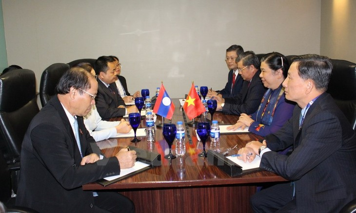 Vice Chairwoman of the NA Tong Thi Phong holds bilateral meetings on the sideline of AIPA-38 - ảnh 1
