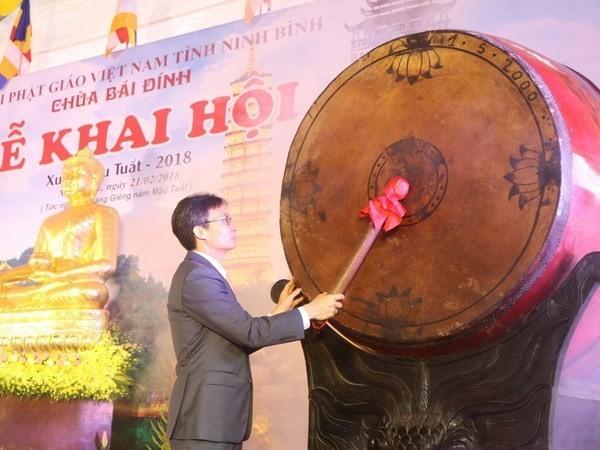 Bai Dinh Pagoda Festival opens - ảnh 1