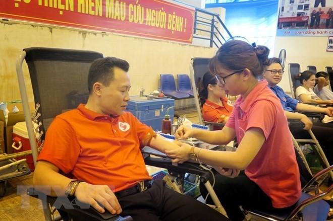 Blood donation activities held across Vietnam - ảnh 1