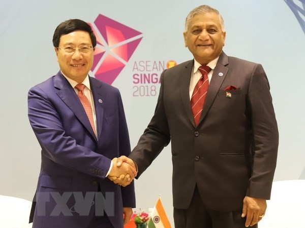 Deputy PM Pham Binh Minh meets Indian Minister of State for External Affairs  - ảnh 1