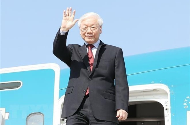 Party chief concludes official visits to Russia, Hungary - ảnh 1