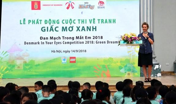 Denmark's painting competition for Vietnamese children kicks off - ảnh 1