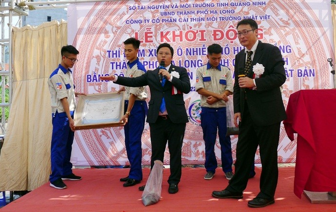 Japanese environmental technology brings new hope for wastewater treatment in Quang Ninh - ảnh 1