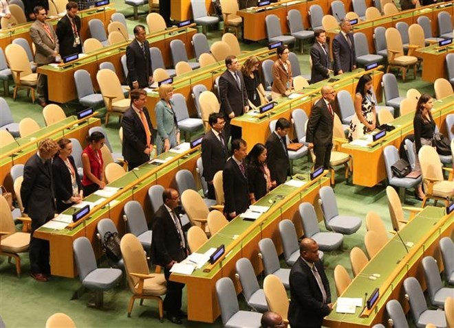 UN General Assembly holds minute's silence to remember President Tran Dai Quang - ảnh 1