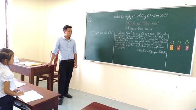 Volunteer teachers on Sinh Ton island  - ảnh 2