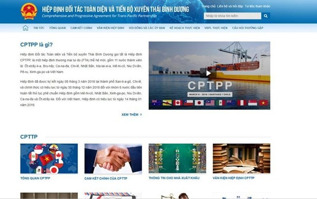 Website on CPTPP upgraded - ảnh 1