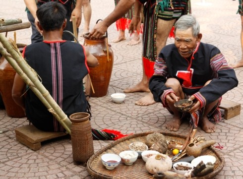 New rice ceremony of the M'nong Gar - ảnh 2