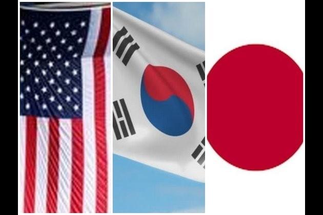 South Korea, US, Japan discuss North Korea's projectile launch  - ảnh 1