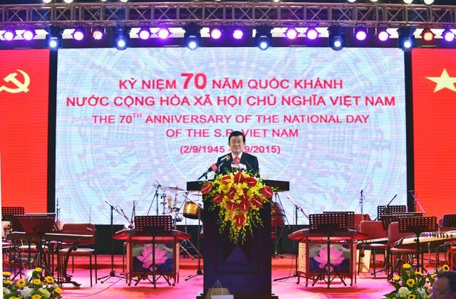 Banquet national à l'occasion de la Fête nationale 2015  - ảnh 1