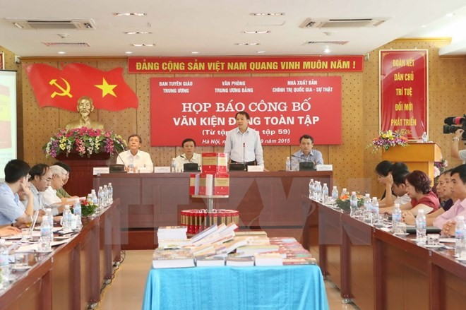 Publication des tomes 55 au 59 des documents complets du Parti communiste vietnamien - ảnh 1