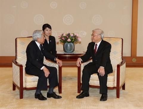 Entrevue entre Nguyen Phu Trong et l'empereur japonais Akihito - ảnh 1