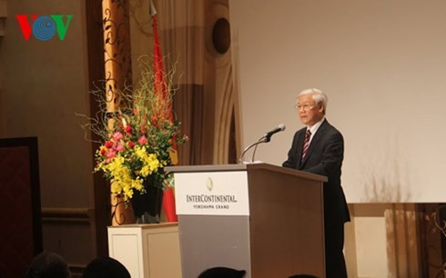 Nguyen Phu Trong inaugure le forum de coopération Vietnam-Japon  - ảnh 1