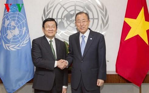 Entrevue Truong Tan Sang-Ban Ki-moon - ảnh 1