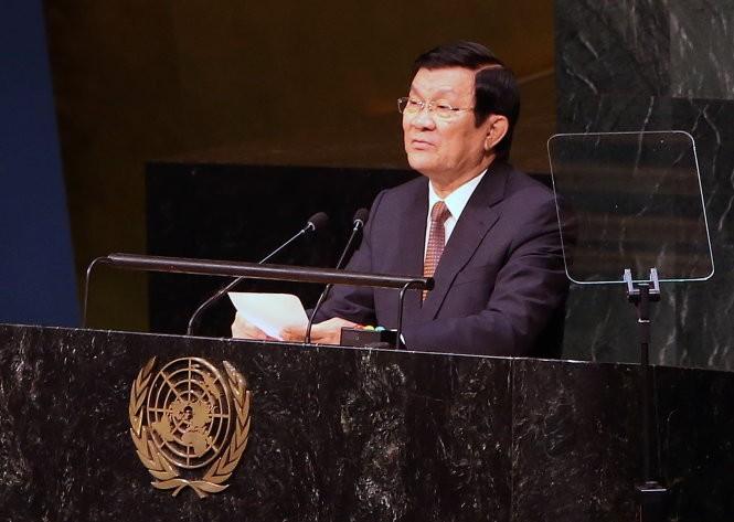 Sommet de l'ONU : Truong Tan Sang prononce un discours important  - ảnh 1