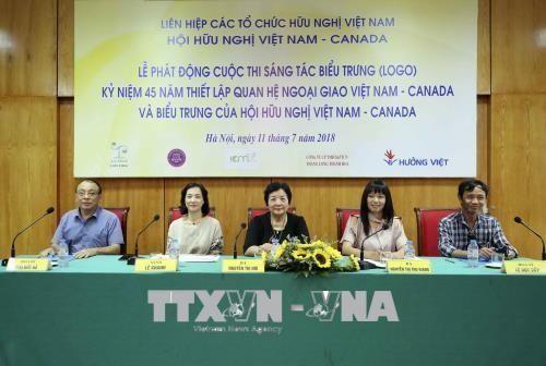 Vietnam-Canada: concours pour la création du logo des 45 ans de relations diplomatiques - ảnh 1