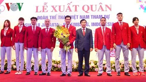 Les sportifs vietnamiens prêts pour les 18e Jeux d'Asie - ảnh 1