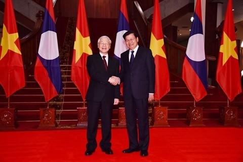 Nguyên Phu Trong rencontre des dirigeants laotiens - ảnh 1