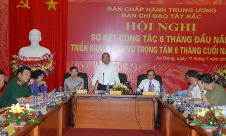 Konferensi menggelarkan tugas 6 bulan akhir tahun dari Badan Pengarahan daerah Tay Bac (Barat Laut) - ảnh 1
