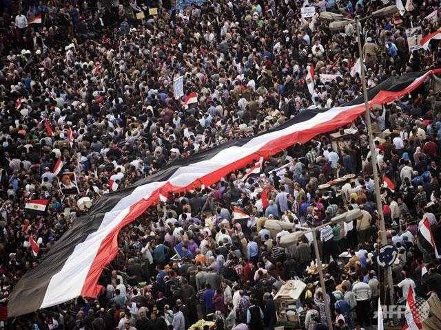 Demonstrasi dan pawai besar-besaran di seluruh Mesir - ảnh 1
