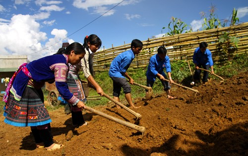 Kaum remaja provinsi Lai Chau bersatu padu membangun pedesaan baru - ảnh 2