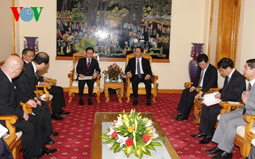 Menteri Keamanan Publik Tran Dai Quang menerima Wakil Kepala Kantor Kabinet Jepang, Hiroshige Seko - ảnh 1