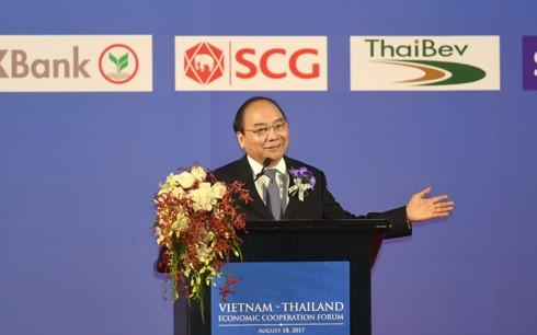 PM Nguyen Xuan Phuc menghadiri Forum Kerjasama Ekonomi Vietnam-Thailand - ảnh 1