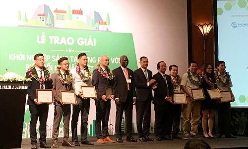 Membantu badan-badan usaha start-up dengan gagasan menghadapi perubahan iklim di Vietnam - ảnh 1