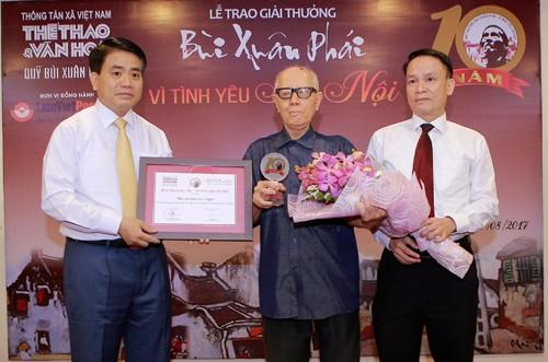 Penghargaan Bui Xuan Phai-Demi kecintaan terhadap Kota Hanoi, memuliakan kecintaan terhadap Kota Hanoi - ảnh 1