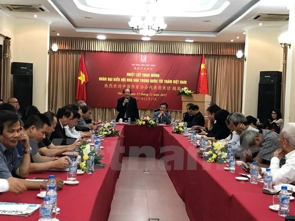 Vietnam-Tiongkok memperkuat kerjasama pengembangan sastra - ảnh 1