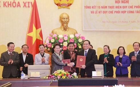 Ketua MN: Perlu memperkuat pembangunan dan penggelaran aktivitas pengawasan  yang dilakukan MN dan Front Tanah Air Vietnam - ảnh 1