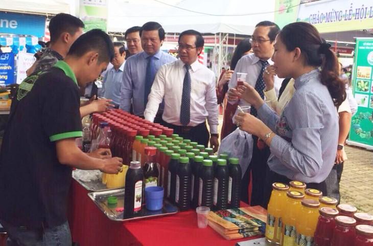 Pembukaan Festival Perberasan dan Pameran Pertanian yang menerapkan teknologi tinggi di Daerah Dataran Randah Sungai Mekong kali pertama - ảnh 1