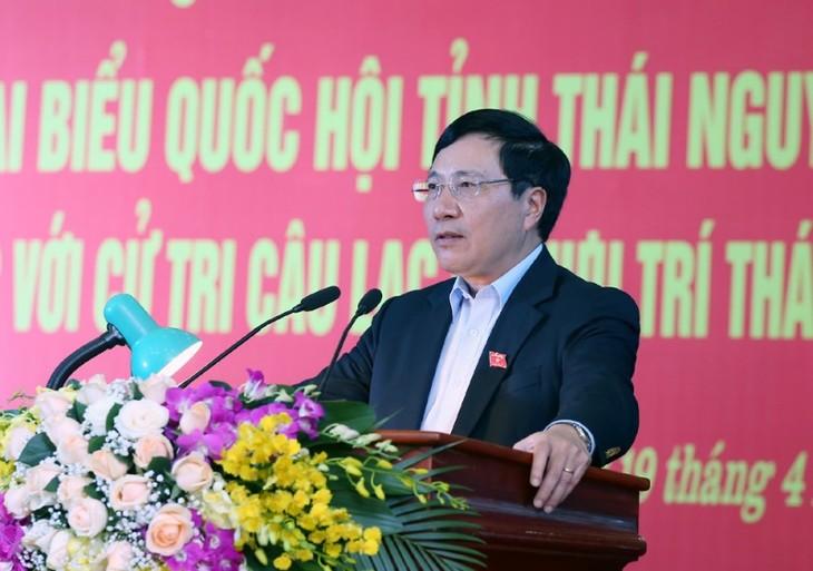 Pham Binh Minh melakukan kontak dengan pemilih Thai Nguyen - ảnh 1