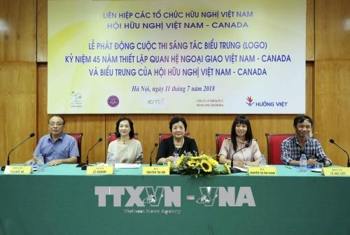 Mencanangkan penciptaan logo peringatan ulang tahun ke-45 penggalangan hubungan diplomatik Viet Nam-Kanada - ảnh 1