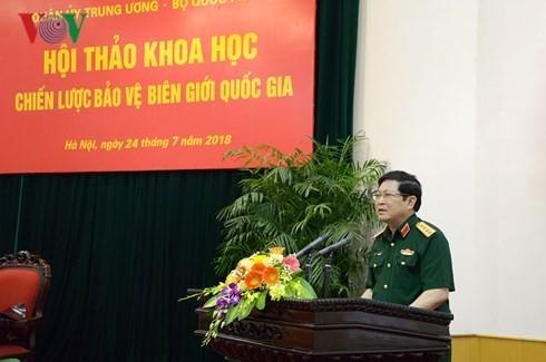 Lokakarya memberikan sumbangan pendapat terhadap Rancangan Strategi Penjagaan Garis Perbatasan Nasional - ảnh 1