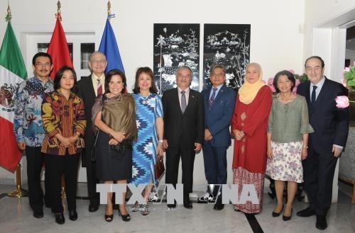 Kedutaan Besar Viet Nam untuk Meksiko memperingati ulang tahun ke-23 masuknya Viet Nam menjadi anggota ASEAN - ảnh 1