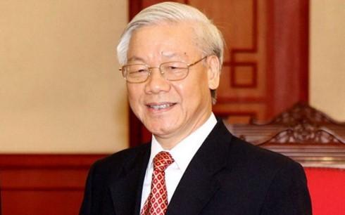 Sekjen Nguyen Phu Trong mengirimkan tilgram ucapan selamat kepada Partai Rakyat Kamboja - ảnh 1