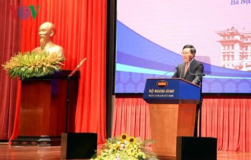 """Pembukaan Konferensi Nasional ke-19 tentang hubungan luar negeri: """"Berinisiatif, kreatif, mengabdi integrasi yang efektif dan perkembangan yang berkesinambungan"""
