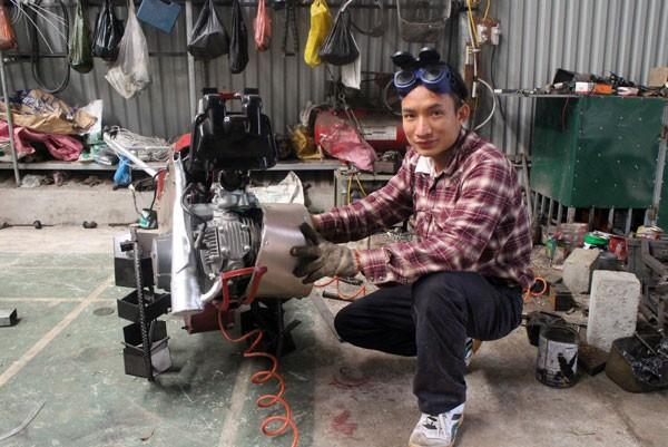 Saudara Ta Dinh Huy menciptakan mesin pertanian multifungsi untuk kaum tani - ảnh 1