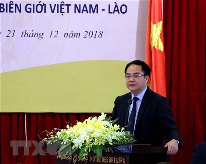 Pertukaran pengalaman tentang pekerjaan keagamaan antara provinsi-provinsi perbatasan Vietnam Nam-Laos - ảnh 1