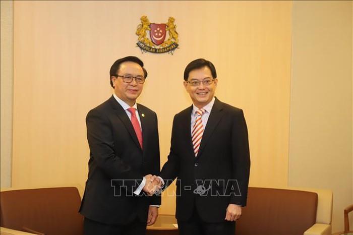 Delegasi Partai Komunis  Viet Nam melakukan kunjungan resmi di Singapura - ảnh 1