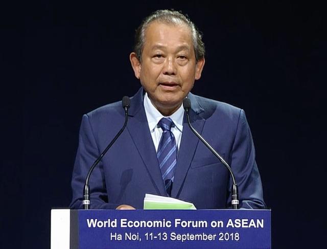 WEF ASEAN 2018 ແມ່ນກາລະໂອກາດເພື່ອໃຫ້ຜູ້ແທນມີຄວາມເຂົ້າໃຈກ່ຽວກັບປະຫັວດສາດ ວັດທະນະທຳ ຫວຽດນາມ ກວ່າອີກ - ảnh 1