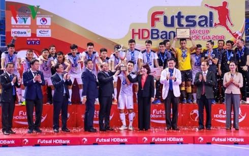 ພິທີອັດງານແຂ່ງຂັນ Futsal HB Bank Cup ແຫ່ງຊາດ ປີ 2018 - ảnh 1