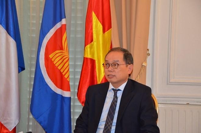 Vietnam cumple como presidente rotativo de Asean en Francia - ảnh 1