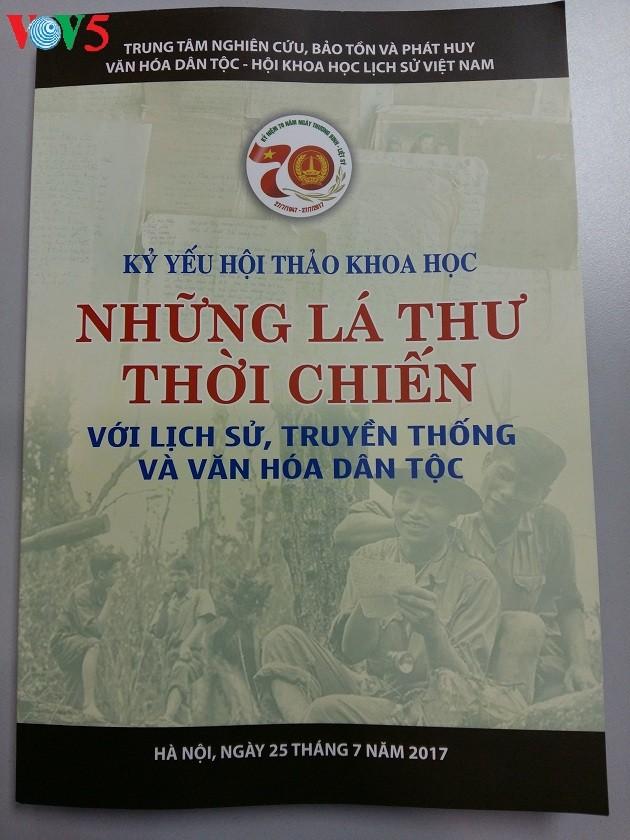 Las cartas de tiempos bélicos muestran la aspiración del pueblo vietnamita por la paz - ảnh 1